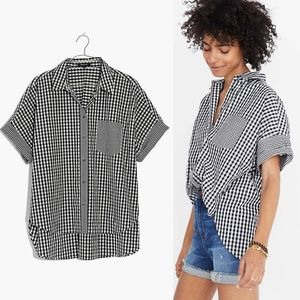 Madewell Gingham Play Button Down Shirt (NWOT)